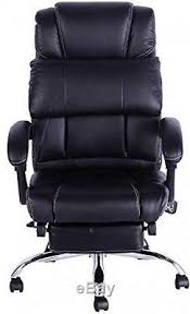 Leather Office Armchair High Back Office Swivel Executive Leather Desk Chair Recliner