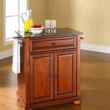 cherry kitchen island alexandria solid black granite top portable kitchen island wood