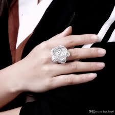 big finger rings images 2018 925 sterling silver jewelry finger ring ring big rose flower jpg