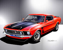 1969 mustang orange 1969 1970 ford mustang prints posters by danny whitfield