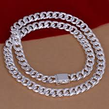 solid silver necklace jewelry images Men 39 s 24 39 39 20 39 39 60cm 50cm 10mm 925 sterling silver necklace 115g jpg