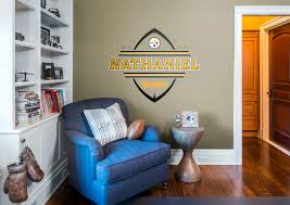 personalized name pittsburgh steelers personalized name wall decal shop fathead