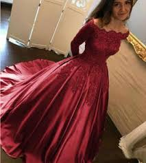 wedding dress maroon shoulder burgundy lace satin gown wedding dress reception