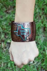 cuff bracelet girl images Texas girl textured bronze metal cuff bracelet texan traders jpg
