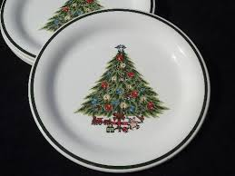 vintage tree dinner plates mt clemens pottery