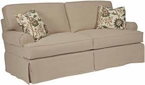 2 Piece Stretch Sofa Slipcover Sure Fit Stretch Pinstripe 2 Piece T Cushion Sofa Slipcover
