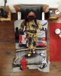fire truck twin bed vnproweb decoration amazon com dream big firefighter ultra soft microfiber 2 piece comforter sham set gray twin home kitchen