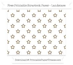 landscape coyote brown silhouette small star outline pattern paper