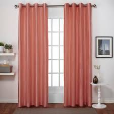 buy coral grommet curtain panels from bed bath u0026 beyond