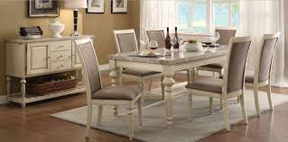 marble top dining table set acme 71705 ryder antique white marble top dining table set 8pcs