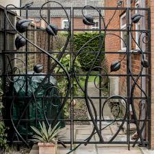 leaf gate u0026 trellis panel norfolk blacksmith