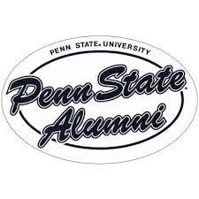 penn state alumni sticker student book store penn state alumni decal oval script alum