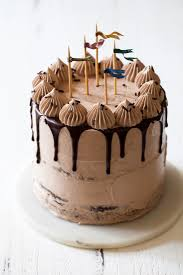 brown cake chocolate fudge cake with milk chocolate cloud frosting