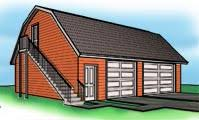 garage plans with gambel roofs blueprints