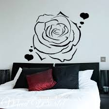 online get cheap rose wall art stickers aliexpress com alibaba mad world flower rose hearts love wall art stickers decal home diy decoration wall mural removable room decor wall stickers