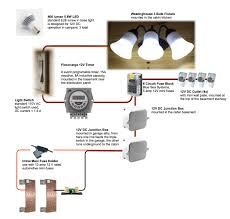component led light circuit simple operated night lamp control