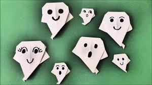 quick halloween crafts diy origami halloween geist schnell und einfach quick and easy