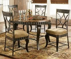 dinette sets rustic wood dining table grey and white area rug