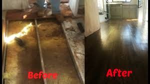 Spongy Laminate Floor Rv Renovations 7 Repairing Hole In Floor U0026 Laying Flooring Youtube