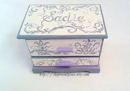 personalized girl jewelry box personalized jewelry boxgreygraylavendercreamdamaskgirls