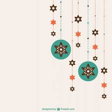 flat christmas ornaments vector free download