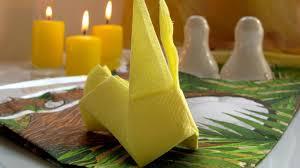 easter napkins how to make napkins origami rabbit for easter origami wonderhowto