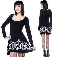 Grave Digger Halloween Costume Trick Treat Vintage Halloween Print Skirt Putre Fashion