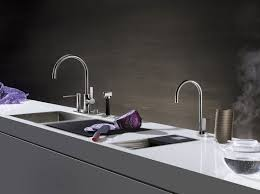 chromed metal mixer tap electronic kitchen 1 hole water