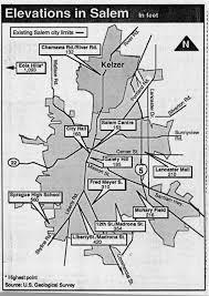 salem oregon history elevations