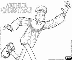 arthur christmas coloring pages printable games