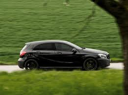 mercedes a class black hatchback mercedes a 45 amg the most powerful in the