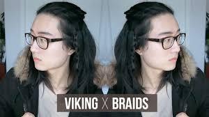 easy viking braids men medium long hairstyle youtube