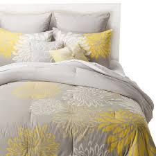 Yellow Bedding Set Anya 8 Floral Print Bedding Set Gray Yellow Grey Yellow