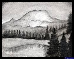how to draw a realistic landscape draw realistic mountains step