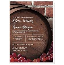 vineyard wedding invitations rustic wine barrel vineyard wedding invitations online at