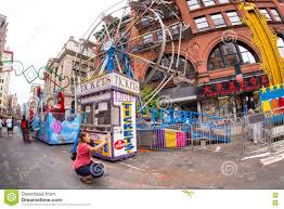 Little Italy New York Map by Nyc San Gennaro Festival Little Italy Stock Photos Images