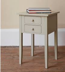 Blue Accent Table Retro White Wooden Open Shelves Bed Side Table Bedroom Unique
