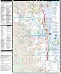 Map Of Cta Chicago by Cta Bus And Train System Maplets