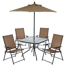 Patio Set Umbrella 6 Outdoor Folding Patio Set With Table 4