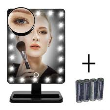 Small Vanity Mirror With Lights Amazon Com New Version Makeup Mirror Flymei Touch Screen 20