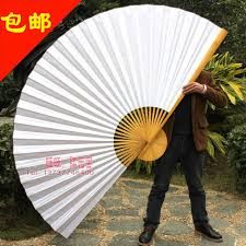 hanging paper fans i am your fans free shipping 1pc blank asian hanging fan big