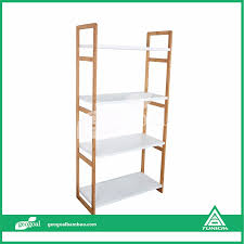 eco friendly free standing shelves bamboo free standing mirror