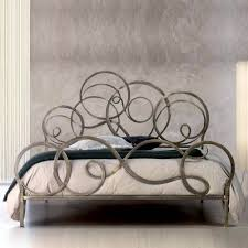 bedrooms chic wrought iron headboard for cool bedroom decoration