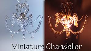 making a chandelier miniature chandelier tutorial that lights up youtube