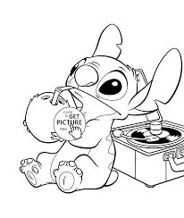 funny stitch lilo and stich coloring page for kids disney