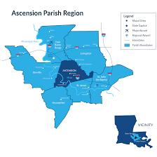 New Orleans Parish Map by Market Access Ascension Economic Development Corporation