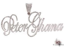 custom silver pendants custom silver cz pendant mens metal 925 silver