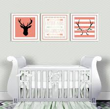 Mint And Coral Home Decor by Baby Nursery Decor Coral And Mint Antlers Deer Head