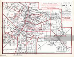 Map Of Akron Ohio by Ohio 1891 Akron Street Map Ward Precinct Boundaries Stock