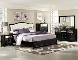 Furniture Black Stained Wood Kingsize Bed With White Leather - White leather headboard bedroom sets